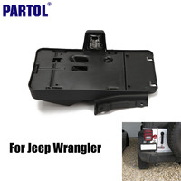 America Canada Car Black Rear License Plate Mounting Holder Bracket With Light Lamp For Jeep Wrangler