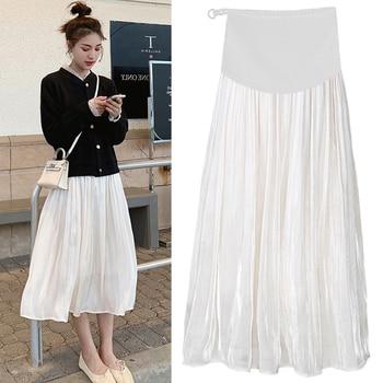 37ad4c98cb 801  2019 verano coreano de maternidad de moda faldas falda del vientre ropa  para mujeres embarazadas calle Casual embarazo