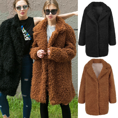 Women Autumn and Winter New Casual Fashion Suit Collar Coat MT0750 in Faux Fur from Women 39 s Clothing