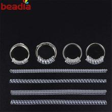 Ferramentas de reiniciação do anel 4 unidades, protetor, equipamentos de peças de joias para anel maior, acessórios vintage, espiral, ajustador de tamanho do anel