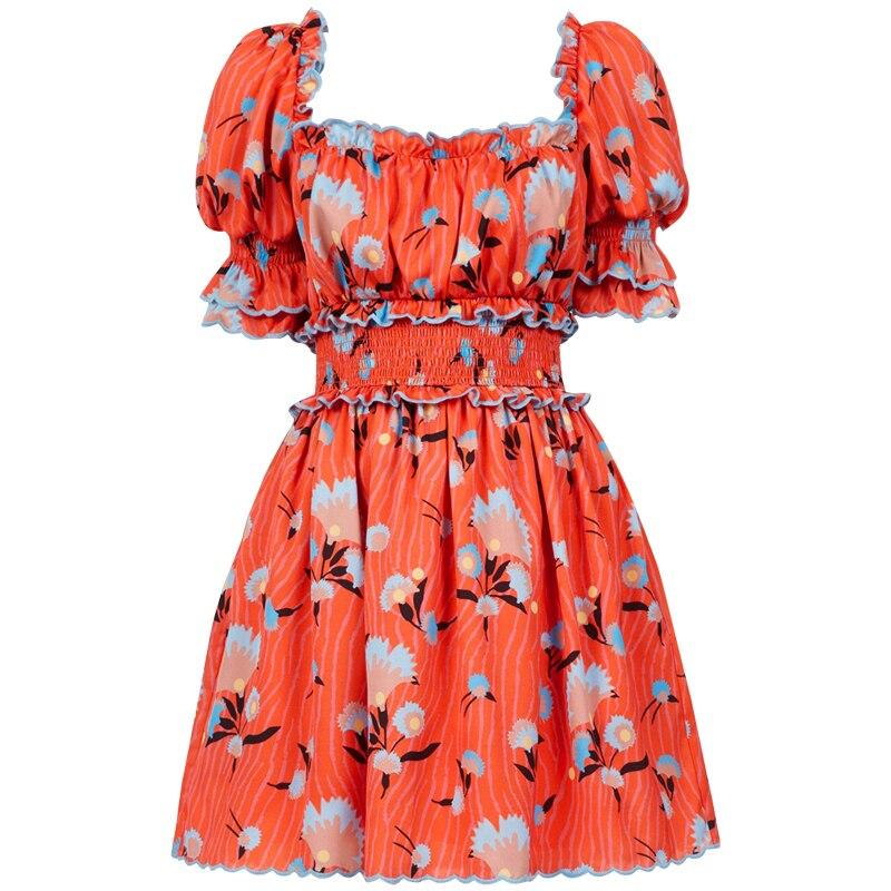 Kadın Giyim'ten Elbiseler'de 2019 Yeni gelmesi Çiçek elbise'da  Grup 1