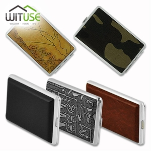 WITUSE Cigarette Case Hold 12 14 16 18 20 Pcs Fashion Pipe Personality Women Cigarette Box Leather Gift Box Smoking Accessories(China)
