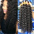 Indian Virgin Hair Curly 3 Bundles 8A Unprocessed Indian Deep Curly Hair More Wave/ Natural Wave Sunny Queen Hair Products
