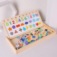 Детские игрушки деревянные игрушки Монтессори цифровой Форма 3-в-1 Магнитный познания арифметики доска математические обучающие игрушки для детей