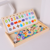Kids Toys Montessori Wooden Toys Digital Shape 3 in 1 Magnetic Cognition Arithmetic Board Math Toy Educational Toys For Children