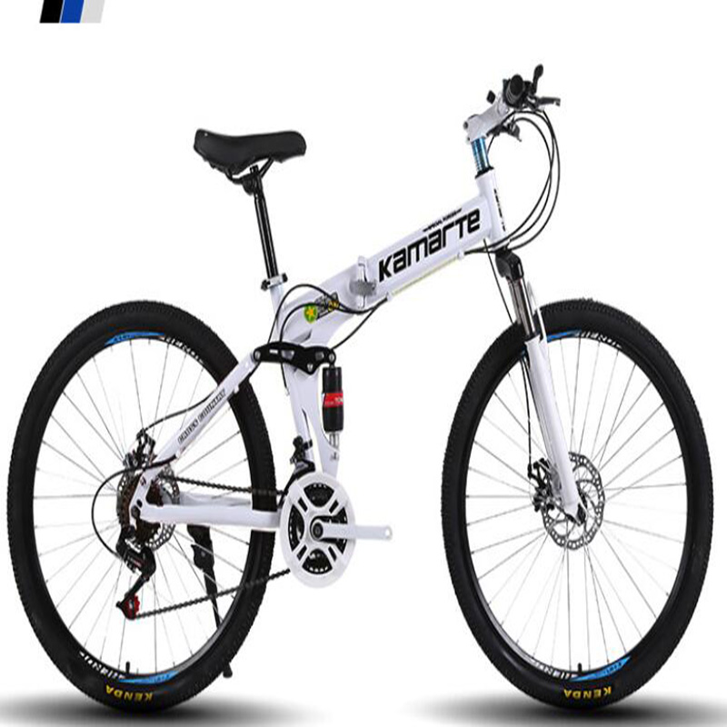 Shock Absorption Shift Folding Mountain Bike Bicycle Aluminum Alloy 26 Inch Double Disc Brake