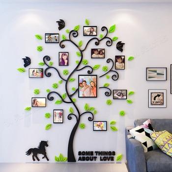 3D Arcylic DIY Familie Fotolijst Boom Muursticker Interieur Woonkamer Slaapkamer Art Fotolijst Muurstickers Poster