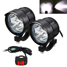 2PCS 50W 5000LM 4V-84V Motorcycle 5x XM-L T6 LED Headlight Driving Fog Lamp Spot Light With Switch