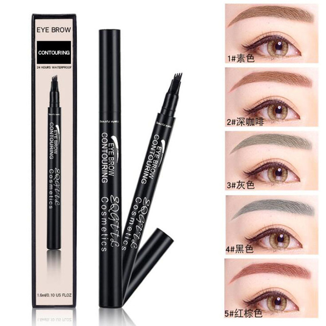 4 Head Makeup Eyebrow Enhancers 5 Colors High-end Automatic Matte Eyebrow Pencil Waterproof Tattoo Pen Long-lasting Cosmetics 3