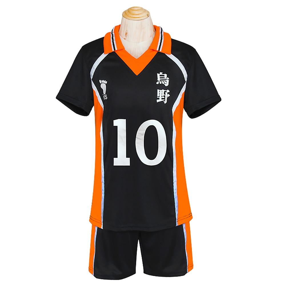 Haikyuu! Karasuno Shyouyou High School Uniform Jersey Cosplay Costume Unisex