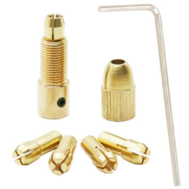 7 pièces 0.5-3mm mandrin de forage jeu de pinces de mandrin rapide pour Mini outils