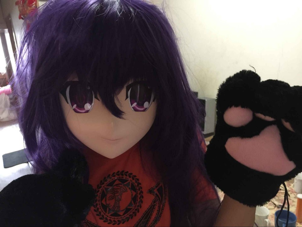 (C2-002) Top Quality Handmade Female Letax Face KIGURUMI Mask Cosplay Kigurumi Crossdresser(Include the  Wig) Japan Anime Masks
