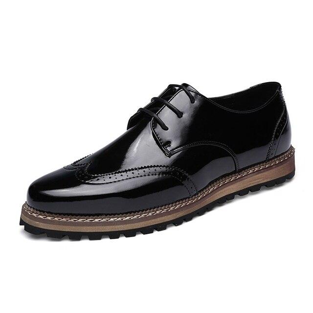 6038fc254bd Zapatos para hombre 2016 de la Marca de Lujo Para Hombre Vestido de Pisos  Punta estrecha