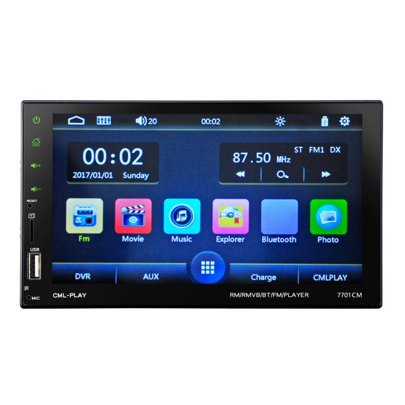 VODOOL 7inch HD LCD Touch Screen 2Din Bluetooth Car Stereo MP5 FM Radio USB TF AUX Car Styling Accessories steering wheel control car radio mp5 player fm usb tf 1 din remote control 12v stereo 7 inch car radio aux touch screen