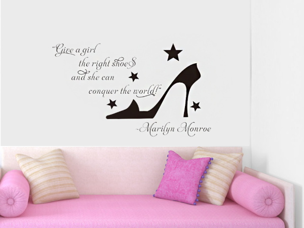 High Heels Give Girl A Right Shoe Marian Monroe English Saying Quote