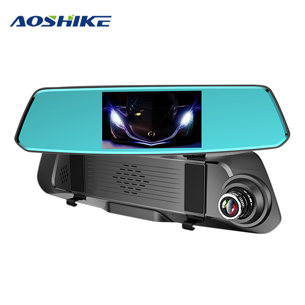 AOSHIKE 5.0-Inch IPS High-Definition Screen Front And Rear HD 1080P Dual-Lens Driving Recorder Car DVR Night Vision Dual-lens