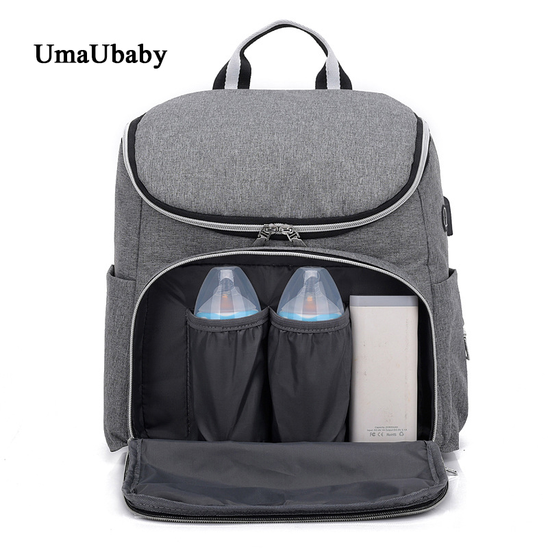 2019 New Travel Storage Shoulder Bag USB Mummy Bag Multi-functional Outdoor Charging Headphones Travel Shoulder Diaper Backpack