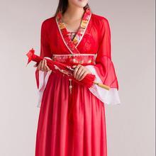 Древний китайский костюм женский народный танцевальный костюм для женщин hanfu женский новогодний веер костюмы