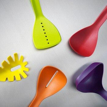 Hitzebeständiger Spatel | WALFOS Hitzebeständigem Nylon Kochen Utensil Set-Nicht-stick Küche Nylon Utensil Set-kochen Spatel Schlitz Löffel Suppenschöpfer