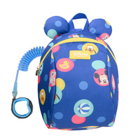 Disney 2In1 Toddler Anti Lost Backpack 1.8M Antilost Wrist Link Kids Walking Strap Leashes Bag Mickey Minnie Schoolbag