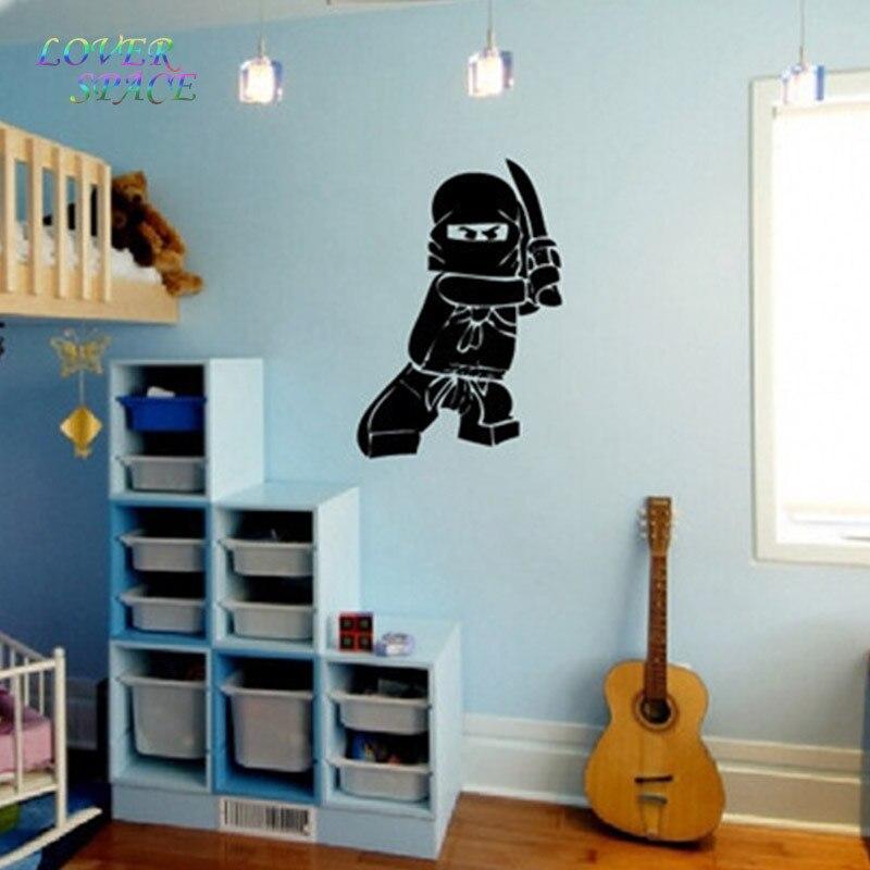 Populair NIEUWE Ninjago Lego Vinyloverdrukplaatjesticker Voor Kids Boy Room JV13