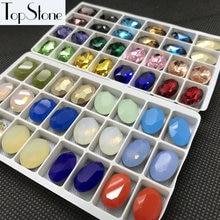 Grande preço slae k9 cristal vidro 13x18mm oval strass opala cores cobalto neve opala branco fantasia pedra misturada