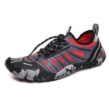 Beşik ayakkabı erkekler için beş parmak yalınayak erkekler plaj ayakkabı açık yüzme ayakkabı çorap çabuk kuru Aqua ayakkabı kadın yukarı ayakkabı