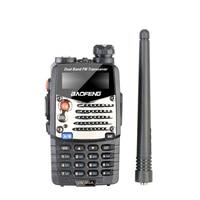 """מכשיר הקשר Baofeng UV-5RA מכשיר הקשר 5W High Power Dual Band כף יד שני הדרך Ham Radio UHF / השתמש אבטחה מקמ""""ש HF Communicator VHF (2)"""