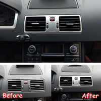 For Volvo XC90 2002-2014 Stainless Steel Car Central Dashboard Air Condition AC Vent Frame Trim Car Stickers Accessories