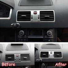 Per Volvo XC90 2002-2014 In Acciaio Inox Auto Centrale del Cruscotto Aria Condizionata AC Vent Trim Telaio di Adesivi per Auto Accessori