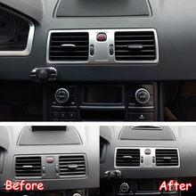 Für Volvo XC90 2002-2014 Edelstahl Auto Zentralen Dashboard Air Zustand AC Vent Rahmen Trim Auto Aufkleber Zubehör