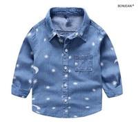 Y1233432 Retail 2016 New Spring Fashion Baby Boy Shirt Full Sleeve Toddler Boy Top Boy Clothes