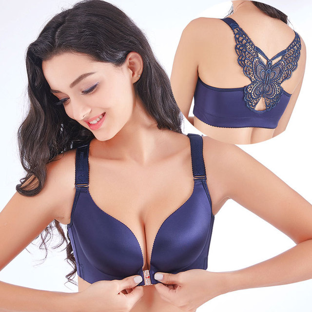 d06d5c853c68 Sexy Seamless Front Closure Bra Big Size Butterfly Adjustable Push Up Bra  Plus Size Bras For