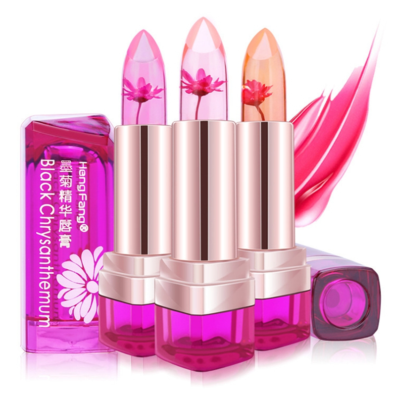 Hot 3Colors font b Flower b font Long lasting Waterproof Lipstick Temperature Change Magic Color Lip