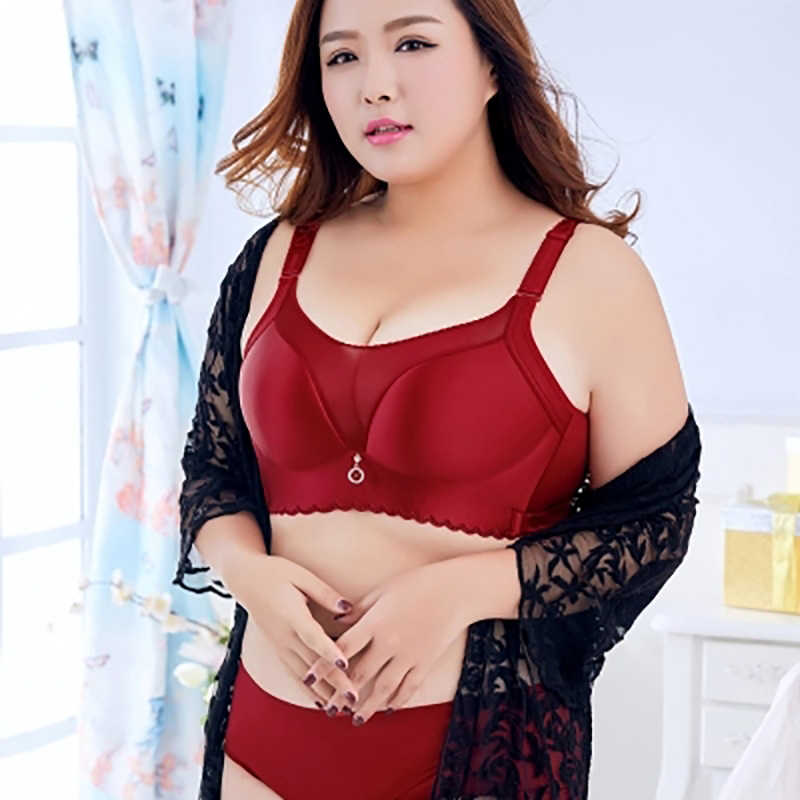12126b9e8dabe Deep V Plus Size Bras For Women Push Up Lingerie Seamless Bra Wire Free  Bralette Ultra