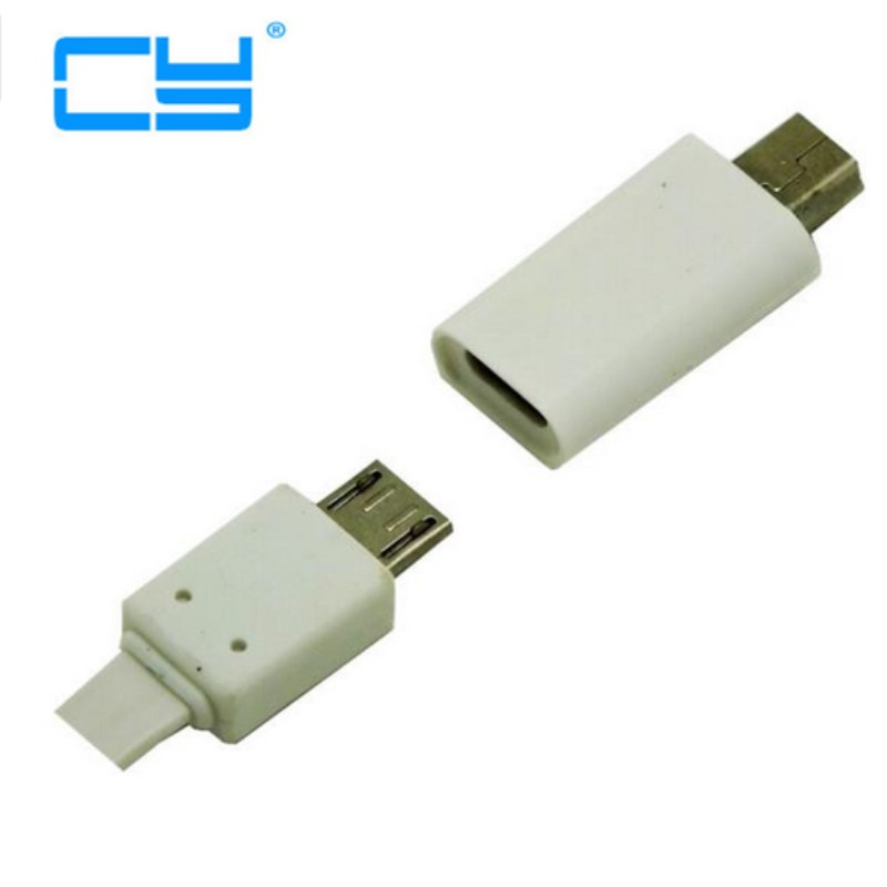 White 2pcs/lot Mini Usb Male To Micro Usb Female Adapter Connector Charging Charger For Smartphone MP4 Mp5 Psp 360 Power Bank