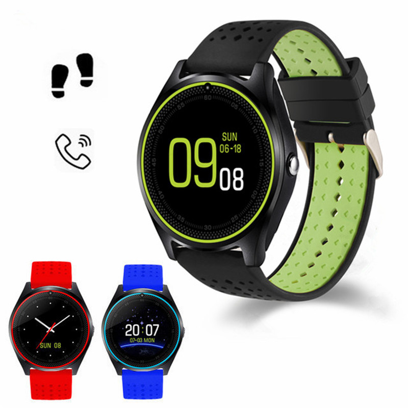 Newest Arrival V9 Smart Watch Camera Bluetooth Message SIM Card Smartwatch for Android Phone Wearable Devices Smart Wristband