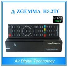 5pcs/lot HEVC H.265 Zgemma H5.2TC DVB-S2+ 2*DVB-T2/C Multistream TV satellite receiver Dual Core set top box