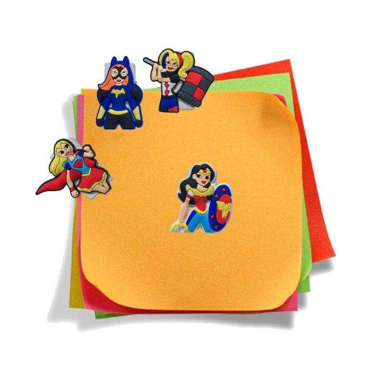 1pcs Super Hero Girls Paper Clips Pvc Bookmarks Cute Diy