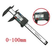 0-100 мм/4 дюйма ЖК цифровой Электронный штангенциркуль из углеродного волокна Калибр микрометр измерительный инструмент