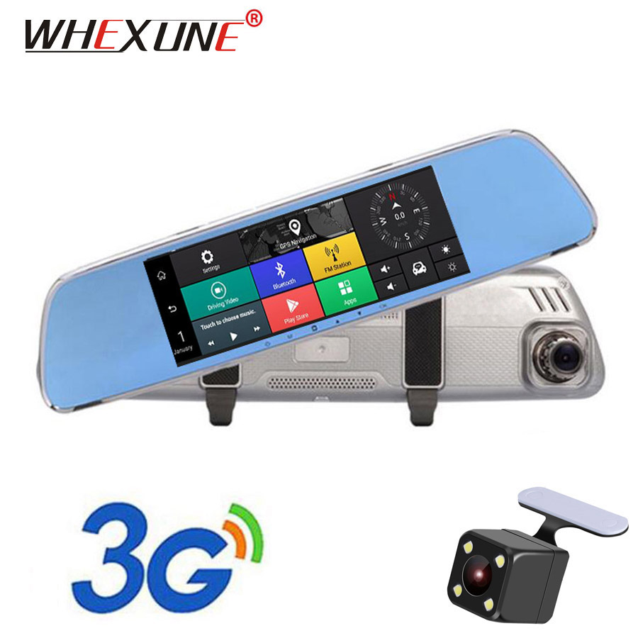 Car Electronics Amicable Whexune 7 Inch 3g Car Dvr Camera Gps Navigator Android Rearview Mirror Full Hd 1080p Video Recorder Bluetooth Dual Lens Dashcam Automobiles & Motorcycles