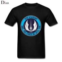 Jedi Academy Logo T Shirt Men Boy XXXL Custom Short Sleeve 3XL Couple Star Wars T