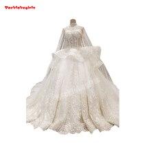 65880 Strapless Wedding Dress Lotus Leaf Ruffle Beaded