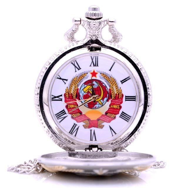 Dropshipping New Gold Soviet USSR Emblem Earth Sickle Hammer Communism Quartz Po