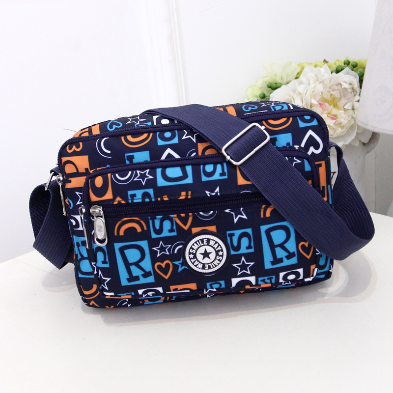 Women Fashion Solid Color Zipper Waterproof Nylon Shoulder Bag Female Crossbody Bag Ladies Bolsa Feminina Waterproof Travel Bag