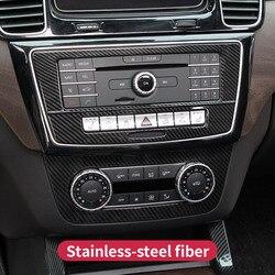 Pannello Cd Adesivi per Mercedes Benz Gle W166 Gle Coupé C292 Gls X166 Amg Carbon Aria Condizionata Interruttore Del Pannello di Copertura accessori