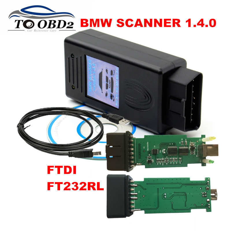 Auto Diagnostic For BMW V1.4.0 SCANNER Multi-Function FTDI FT232RL Unlock Version
