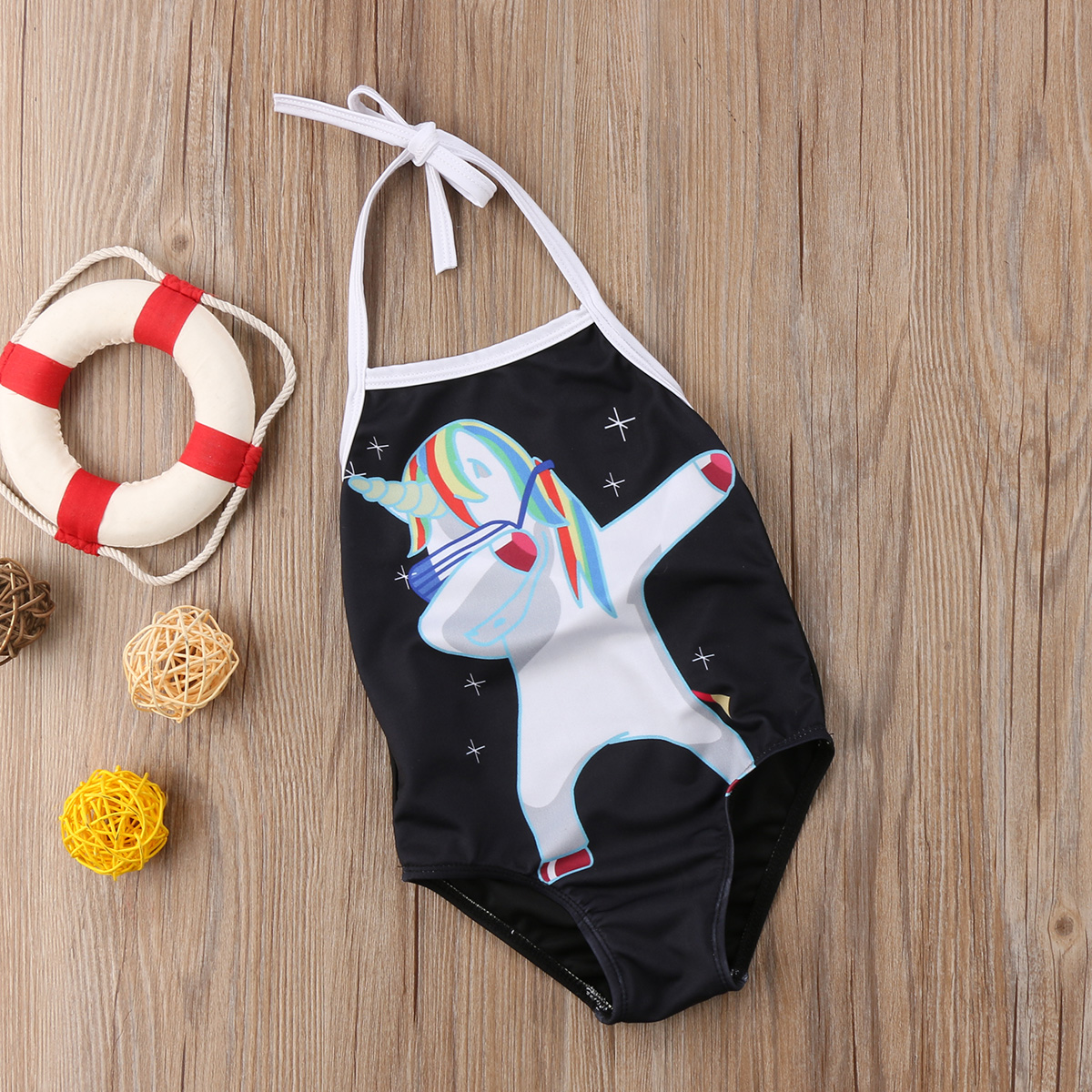 Cartoon Unicorn Baby Girls Swimwear One pieces Bodysuit for children Girls Swimsuit Beachwear Summer Bathing suit for girls