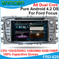 Android 4.2 Car DVD GPS Player for Ford Focus 2009 2012 1080p Video Support thousands of Android Apps OBD DVR optional