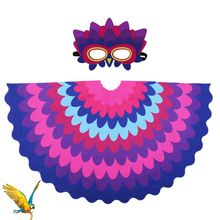 3-9 Y.O Special Vivid Parrot Costume For Kids Suit Cosplay Party Girls Kids Costumes Mask Toys Girls Party Christmas Cosplay vivid hair 9 grade180%